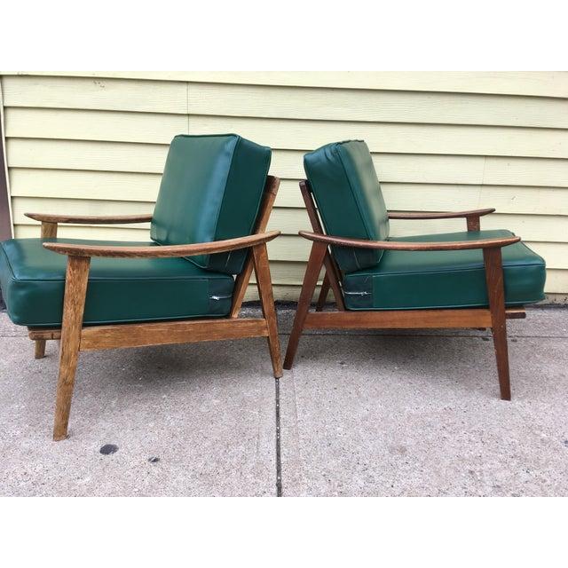 mid century danish design lounge chairs a pair chairish