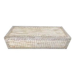 Creme Colored Inlay Box For Sale