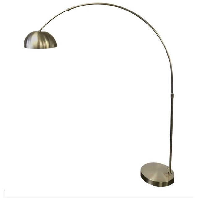 Silver Mid-Century Space Age Chrome Arc Floor Lamp For Sale - Image 8 of 8