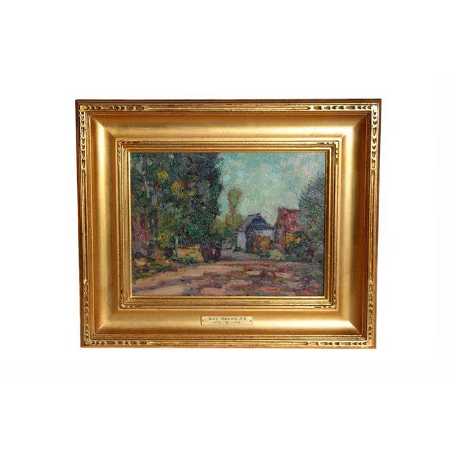 American Impressionistic Oil on Board by Roy Brown (American, 1879-1956) For Sale - Image 13 of 13