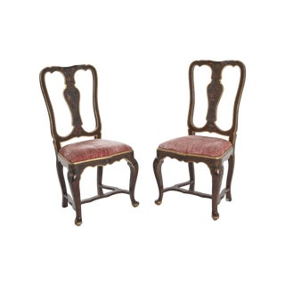 Early 20th Century Venetian Velvet Chairs - Priced Separately For Sale