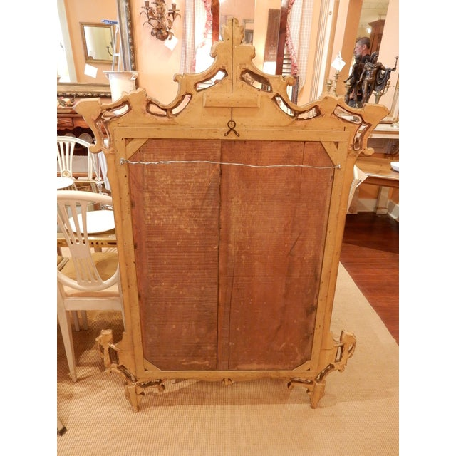 Metal Directoire' Worn Silver Gilt Mirror For Sale - Image 7 of 10