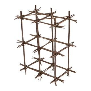 1980s Vintage Brutalist Wire Sculpture For Sale