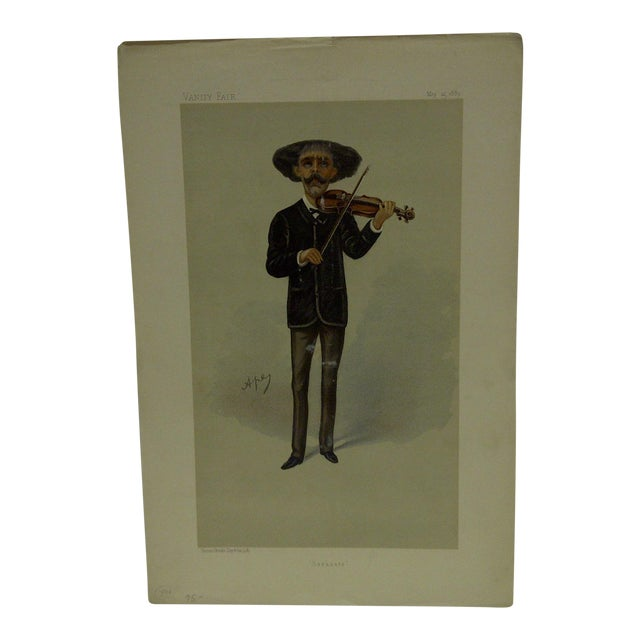 """Vintage 1889 """"Sarasate"""" Vanity Fair Print For Sale"""