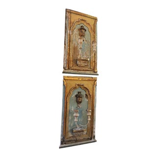French Fragments Sconces - a Pair For Sale