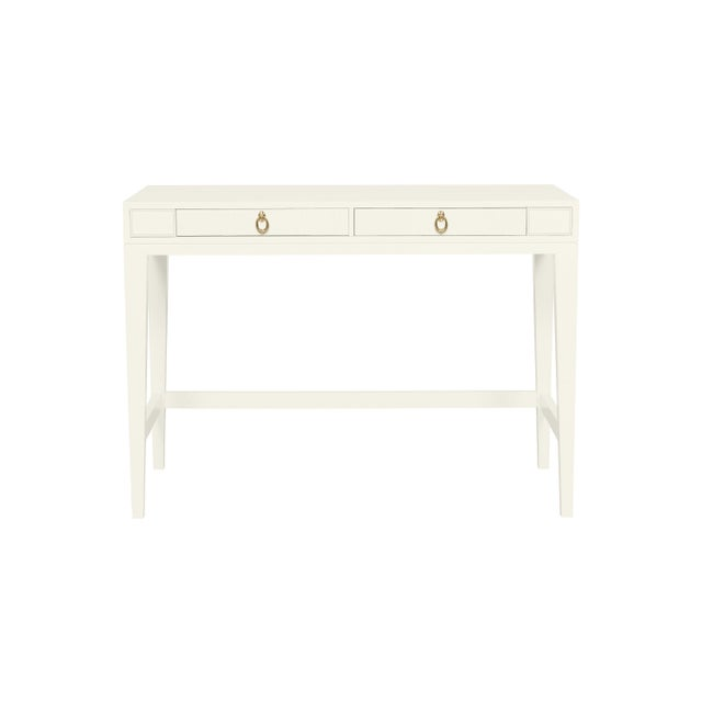 Traditional Casa Cosima Living Issa Counter Height Desk - Cloud White For Sale - Image 3 of 3
