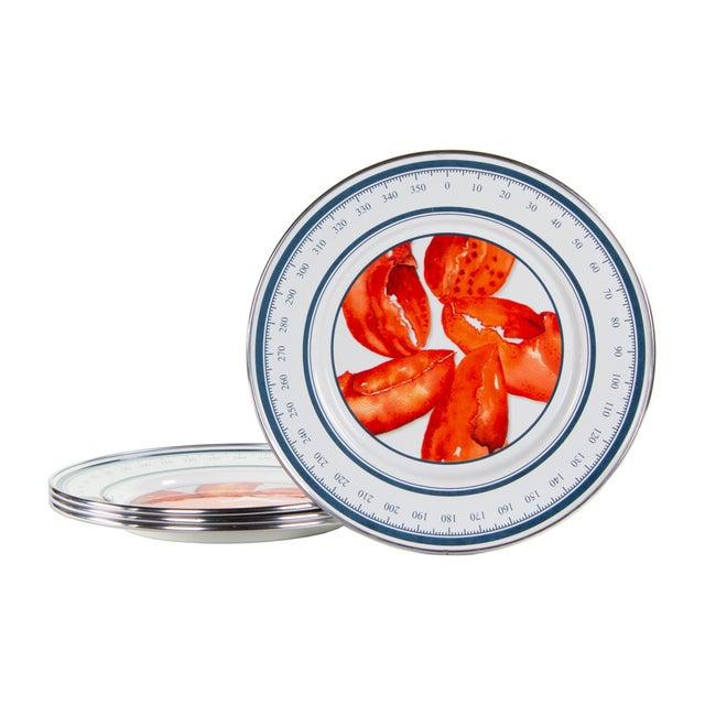 Modern Sandwich Plates Lobster - Set of 4 For Sale - Image 3 of 3