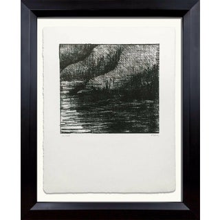 """1970s Vintage Henry Moore """"Fjord"""" Hand Signed Original Lithograph Print For Sale"""