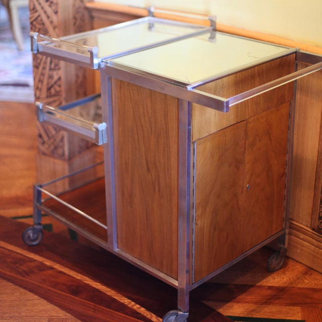 Jacques Adnet Dry Bar Service Cart by Jacques Adnet For Sale - Image 4 of 10