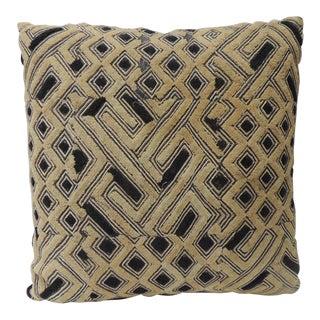 Kuba Square African Artisanal Textile Decorative Pillow For Sale