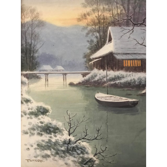 Japanese Landscape Watercolor Painting - Image 4 of 9