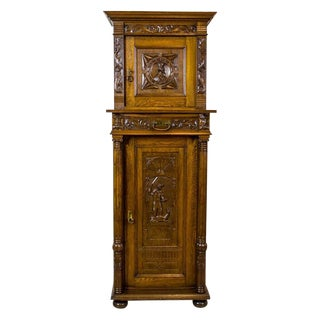 19th Century Eclectic Cabinet with Iconography with Saint George For Sale