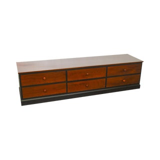 Ethan Allen American Impressions Black & Cherry Long Low File Cabinet