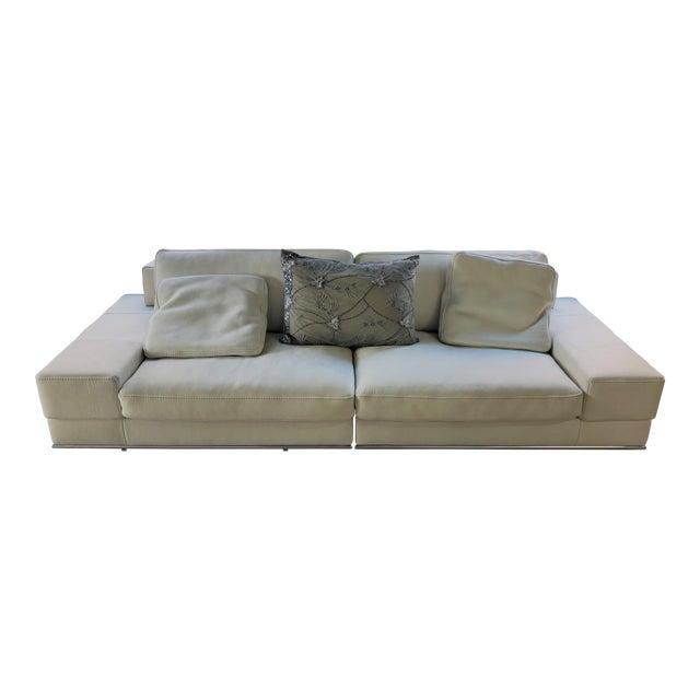 Incanto Italian White Leather Sofa | Chairish