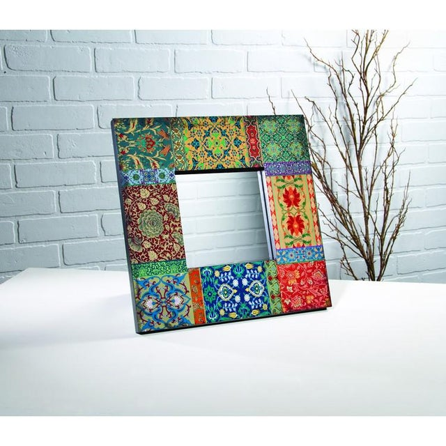 Boho Patchwork Wall Mirror For Sale In Chicago - Image 6 of 6