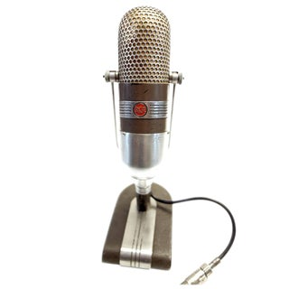 Coach Bear Bryant Iconic 1950s RCA Studio Mic. As Sculpture For Sale