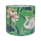 Image of Green Lotus Garden Lamp Shade For Sale