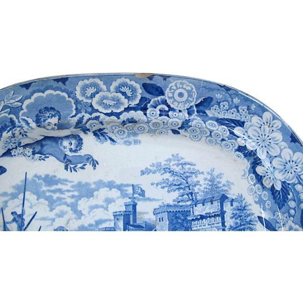 English Traditional Antique Staffordshire Platter, C. 1820 For Sale - Image 3 of 3