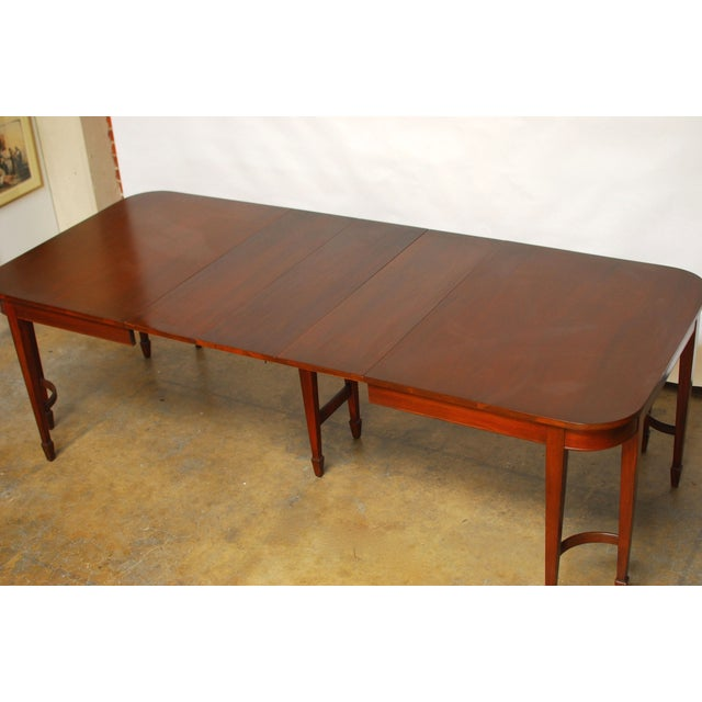Hepplewhite Federal Double Leg Dining Table - Image 3 of 7