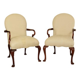 Pennsylvania House Cameo 90 Cherry Queen Anne Style Pair Armchair For Sale