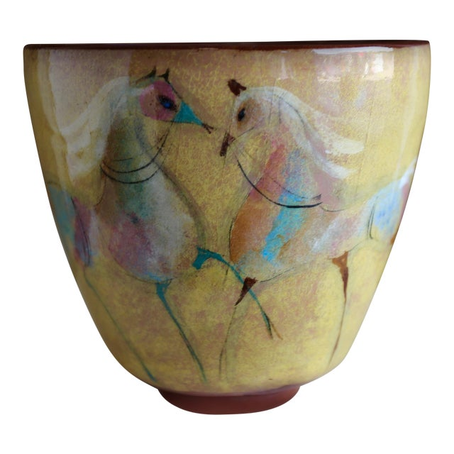Vintage Mid Century Polia Pillin Ceramic Bowl For Sale