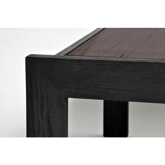 Asian Custom Bamboo Top Coffee Table For Sale - Image 3 of 13