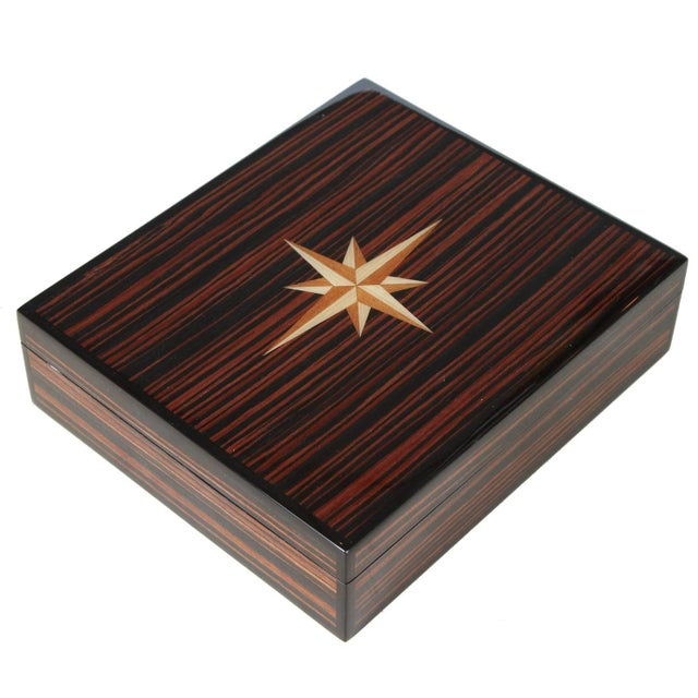 Macassar Lidded Box For Sale In Los Angeles - Image 6 of 6