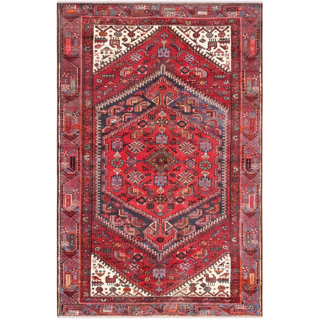 "Modern Pasargad Home Joshegan Lamb's Wool Area Rug- 4' 2"" X 6' 7"" For Sale - Image 4 of 4"