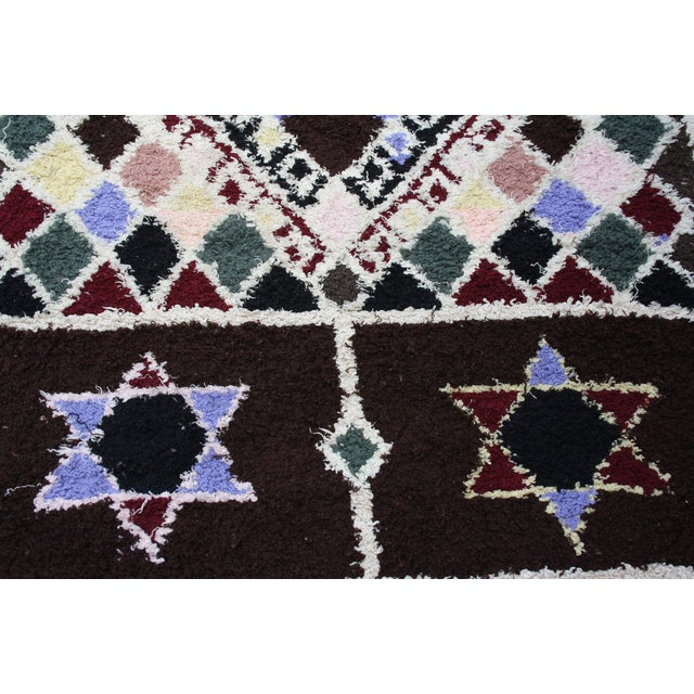 Boho Chic Moroccan Rug- 3′5″ X 5′6″ For Sale - Image 3 of 3