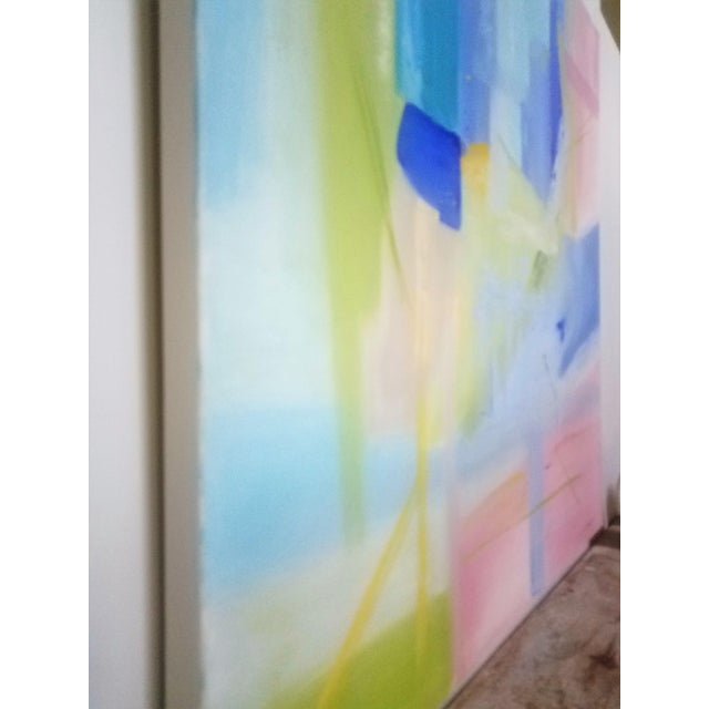 """Contemporary Christine Frisbee """"Turquoise Door"""" Oil on Canvas Painting For Sale - Image 4 of 7"""