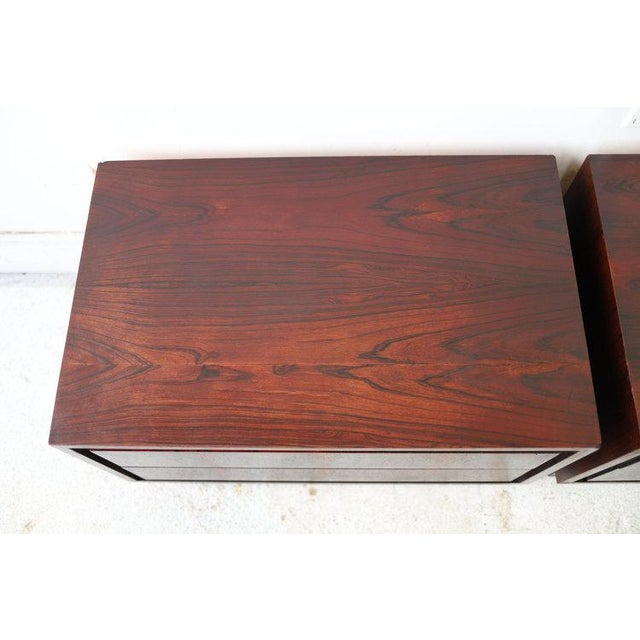 Mid 20th Century Pair of Vintage Mid Century Modern Nightstands by Dillingham For Sale - Image 5 of 10