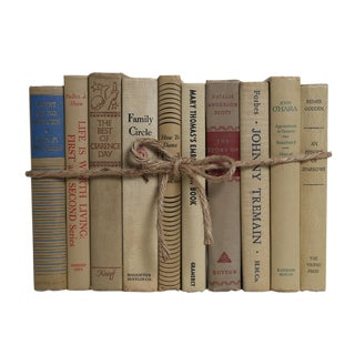 Midcentury Beach ColorPak - Decorative Books in Shades of Tan and Cream For Sale