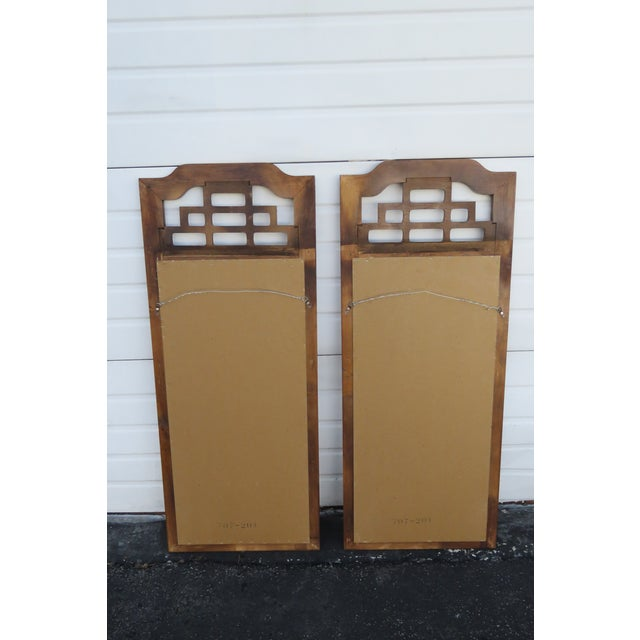 Late 20th Century Hollywood Regency Pair of Wall Bathroom Vanity Mirrors by Henry Link For Sale - Image 5 of 13