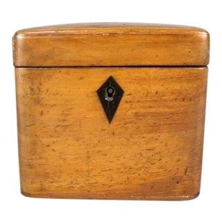 19th Century Pearwood Tea Caddy For Sale