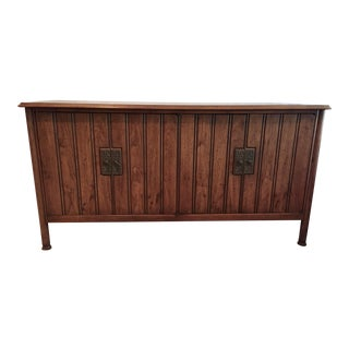 1960s Vintage Heritage Walnut Buffet For Sale