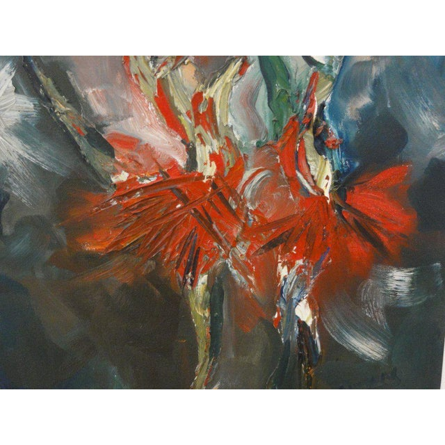 Mid Century Ballerina Abstract Painting - Image 5 of 10