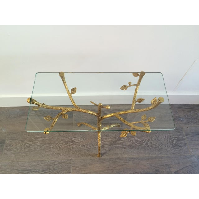 "Gilt Iron Giacometti Style ""Tree"" Side Table - Image 3 of 11"