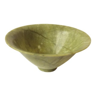 Green Serpentine Stone Bowl For Sale