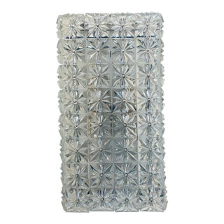 Vintage Austrian Sconce With Faceted Square Tiles For Sale
