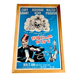 Old Cary Grant Movie Poster, Dream Wife For Sale