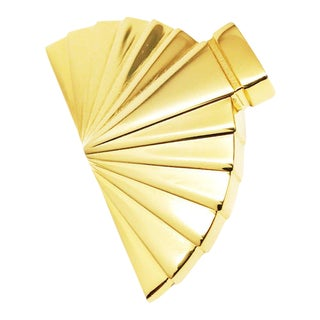 Fan Brooch by Karl Lagerfeld For Sale