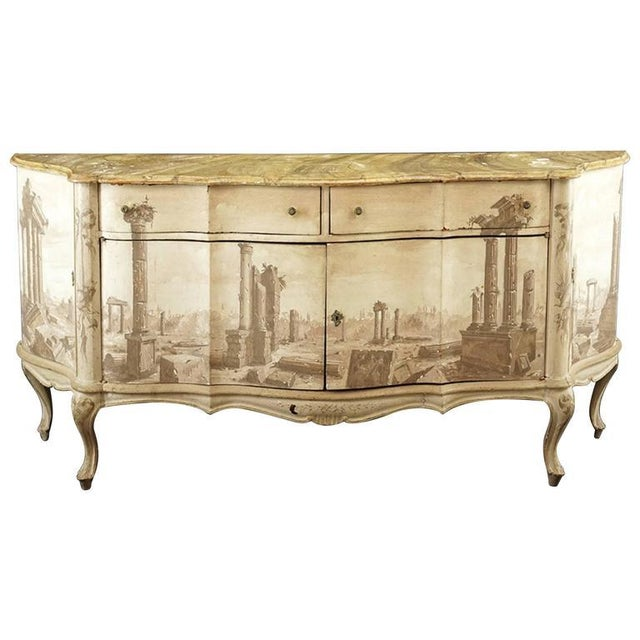 Italian Trompe L 'oeil Sideboard For Sale In Chicago - Image 6 of 7