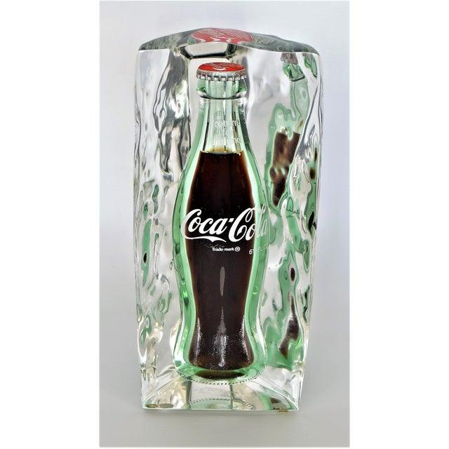 Vintage Lucite Coca-Cola Coke Table Sculpture Mid Century Modern Pop Art MCM Millennial For Sale - Image 11 of 11