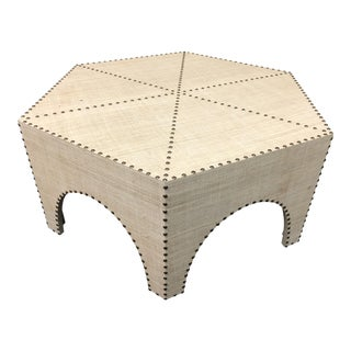 Palecek Casablanca Raffia Coffee Table