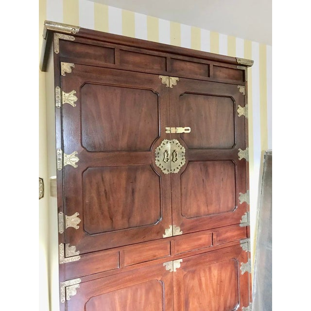 Asian Henredon Tansu Collection Armoire Wardrobe For Sale - Image 3 of 13