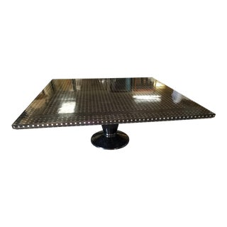 1990s Custom Stainless Steel Accent Dining Table For Sale