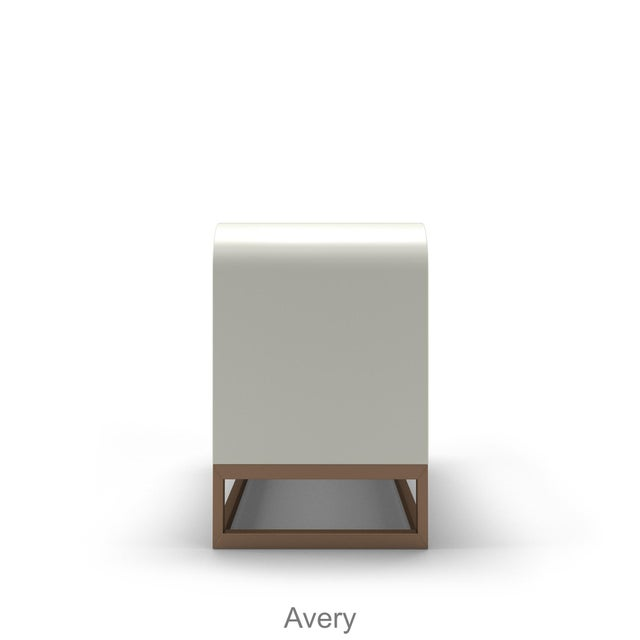 Contemporary Avery Credenza - Citron For Sale - Image 3 of 5