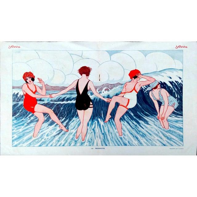 "1924 Le Sourire ""La Trempette"" Framed Print - Image 2 of 9"
