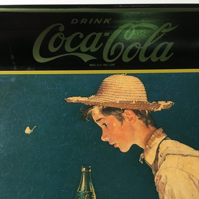 Boy Fishing, Norman Rockwell Coca-Cola Tray 1935 - Image 4 of 6