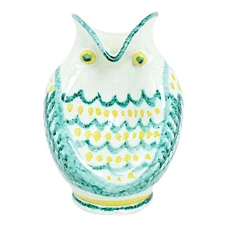 Italian Pottery Owl Vase For Sale